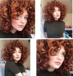 58 Ideas hair cuts short curly natural curls love her Curly Hair Styles, Cute Curly Hairstyles, Curly Hair Cuts, Short Curly Hair, Short Hair Cuts, Hair 2018, Natural Curls, Ginger Hair, Great Hair