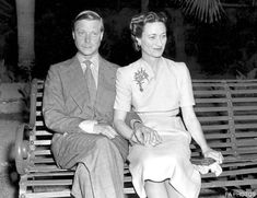 Edward VIII with his love Wallis Simpson - the Church of England did not allow divorced persons to remarry in church while a former spouse was still living (both of her first two husbands were still alive).