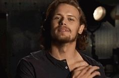 Collarbones ... While I love that Sam and Cait have such a wonderful rapport with their fans, I just have to say that he is one gloriously constructed specimen.  If he showed up on my porch, my husband would just have to understand my indiscretion.