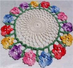 Picture of Floral Doilies Set Crochet Pattern