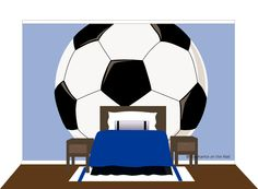 Make a HUGE impression on all of your soccer fans - larger or small with this tightly cropped wall mural. You are bound to score a goal with this one!