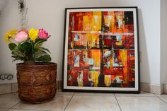 Acrylic painting on canvas Abstract painting by SumanDimension