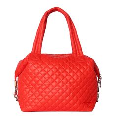 MZ Wallace Large Sutton Satchel in Papaya @mzwallacenyc