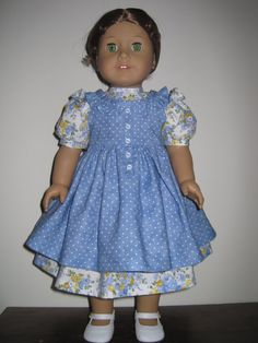 Old Fashioned Dress and Pinafore for American Girl by MarieGeorj, $42.00