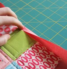 How to bind a quilt with only the backing fabric. Great for smaller projects.