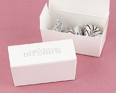 """""""Hugs and Kisses"""" Favor Boxes - candy not included. $19.99/25"""