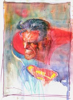 AWESOME WARNING: Superman by Bill Sienkiewicz #PunisherApproved