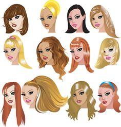 comic woman hair - Szukaj w Google