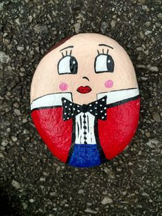 Humpty Dumpty rock painting