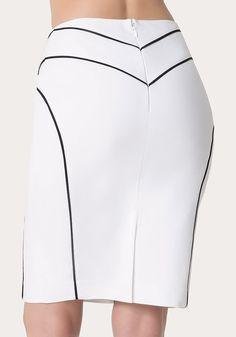 Kayla Pencil Skirt at bebe Skirt Outfits, Dress Skirt, Midi Skirt, Jupe Short, Calf Length Skirts, Cute Skirts, Work Attire, Dress Patterns, African Fashion