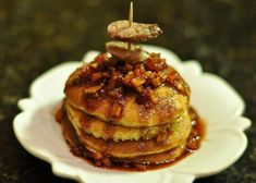 Spicy Sausage and Apple Pancakes