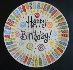 Most current No Cost Ceramics plates Popular Family Birthday Plate 10 Inch Ceramic Plate by Sharpie Plates, Sharpie Paint Pens, Sharpie Crafts, Sharpie Art, Ceramic Plates, Pottery Painting Designs, Pottery Designs, Pottery Ideas, China Painting