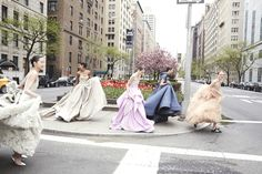 Spring's Most Mesmerizing Ball Gowns Stop Traffic in Manhattan - Vogue