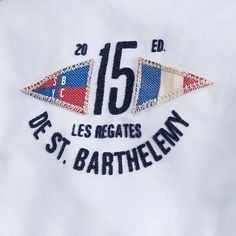 Gaastra Blouse Saline White Embroidery Patches, Embroidery Applique, Embroidery Designs, Teen Jackets, Nautical Design, Label Design, Graphic Design Inspiration, Casual Shirts For Men, Badges