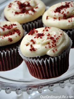 Perfect For Valentine's Day - Organic Red Velvet Cupcakes (With Natural Beet Coloring) - Our Ordinary Life