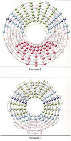 Схема плетения изделия из бисера. Hummingbird pattern