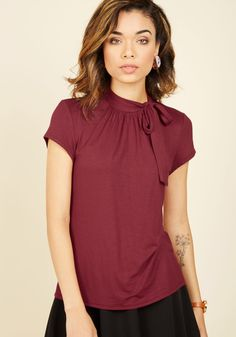 Advert Yourself Top in Cranberry, #ModCloth