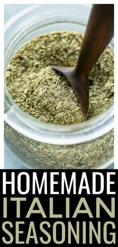 This homemade Italian Seasoning Mix is made with staple pantry seasonings and easy to make! This DIY Homemade Dry Mixes, Homemade Italian Seasoning, Italian Seasoning Mixes, Homemade Spice Blends, Homemade Spices, Homemade Seasonings, Spice Mixes, Keto Seasoning, Italian Spices
