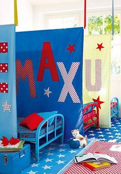 Bedroom dividers - great if multiple gendres in one room. or for older children who want/need a little more privacy, or for screening a play/study area