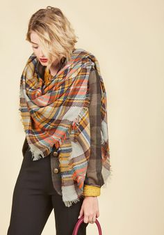 Willamette for the Weekend Scarf in Pebble, #ModCloth