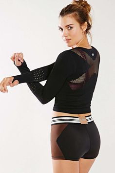 Black & Brown Colorblock Multicolor Olympia Activewear Brown Xena Hot Shorts Activewear @ Urban Outfitters $50 LOVE