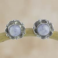 Lilac jade flower earrings, 'Lilac Dahlias' from @NOVICA, They help #artisans succeed worldwide.