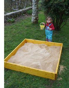cómo construir un arenero infantil