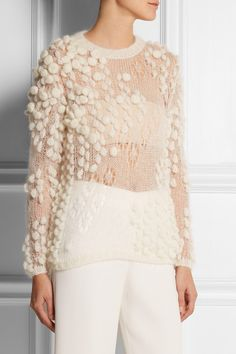 DELPOZOmohair sweater f/w 14 - great knitting idea! Insiration for my next knitting project