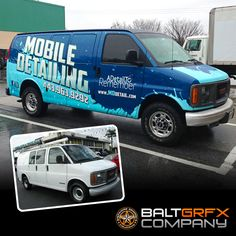 Mobile Detailing commercial wrap by Baltimore Graphics Company.  Wrapped and printed on Oracal 3751RA with 290G Laminate.