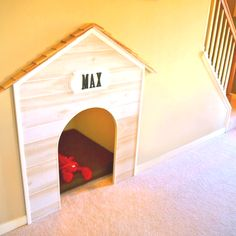 Dog house under the stairs - Thinking of this for prince under our stairs