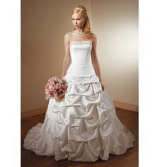 Discount Couture White Summer Spring Fall Formal Wedding Dress Bridal Gowns SKU-118108