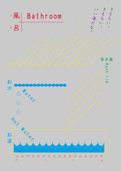 おふろってきもちいい Design : Tadashi Ueda