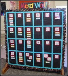 Mrs. Byrd's Kindergarten Word Wall. I need space for word wall and maybe a divider is the answer. I could put K words on one side and 1st-2nd words on the other!
