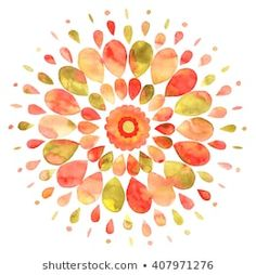 Watercolor Mandala, Green Watercolor, Watercolor Leaves, Watercolor Paintings, Watercolor Design, Watercolors, Iphone Wallpaper Herbst, Abstract Logo, Arte Pop