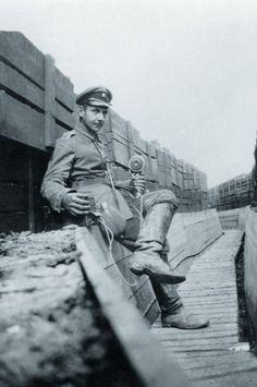Fotografía de Albert Göring durante la Primera Guerra Mundial