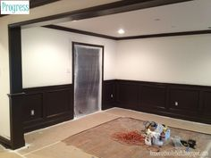 7 Eye-Opening Useful Ideas: Painted Wainscoting Stairs wainscoting nursery colour. Picture Frame Wainscoting, Wood Wainscoting, Farmhouse Dining Room, Wainscoting Nursery, Wainscoting Bedroom, Wainscoting Stairs, Wainscoting Height, Black Wainscoting, Dining Room Wainscoting