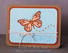 Butterfly Card by Anne Gaal of Gaal Creative at http://www.gaalcreative.com - Feel free to re-pin! ♥