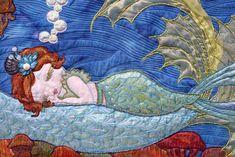 mermaid quilt by Shelli Ricci / cedarcanyontextiles.com
