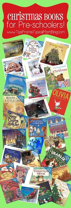 25  Preschool Christmas Book List.  This is an awesome list of books to read with your preschooler.  The list includes religious and non-religious books too.
