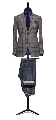 Grey jacket Windowpane green http://www.tailormadelondon.com/shop/tailored-jacket-fabric-7805-check-grey/