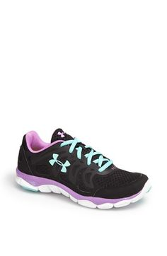 Under Armour 'Micro G™ Engage' Running Shoe Women's-Black, Blue, and Purple Under Armour Women, Nike Under Armour, Under Armour Shoes, Adidas Running Shoes, Running Sneakers, Adidas Shoes, Narrow Shoes, Running Women, Woman Running
