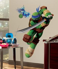 Take a look at this TMNT Leonardo Peel & Stick Giant Wall Decal by Teenage Mutant Ninja Turtles on #zulily today!