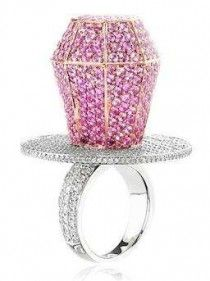 Pink Diamond Pacifier Ring - - what?!! For the Spoiled Rich Toddler?!!!