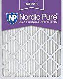 Nordic Pure 20x25x1M8-6 MERV 8 Pleated AC Furnace Air Filter 20x25x1 Box of 6