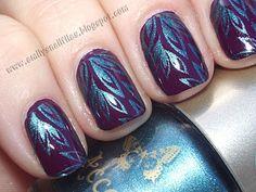 nail stamping!  using bundle monster nail stamp plates Nail Polish Art, New Nail Art, Nail Polish Designs, Cool Nail Designs, Cute Nails, Pretty Nails, Pedicure, Monster Nails, Secret Nails