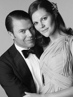 Stunning couple Princess Victoria of Sweden and Daniel - handsome without glasses