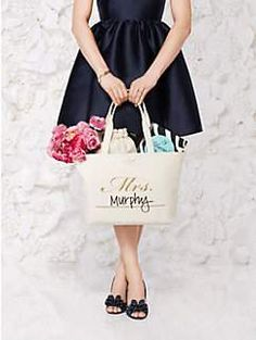 wedding belles customizable mrs tote by kate spade new york