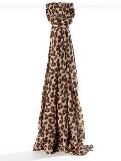 Banana Republic Leona Leopard Scarf $60.00 - Buy it here: https://www.lookmazing.com/products/show/2204637?shrid=1669