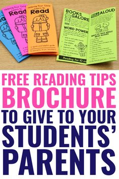 FREE Reading Tips Brochure - to Parents from Teachers - A Teachable Teacher, , Encourage parents to keep their kids reading over the summer. Send them off with this free reading tips brochure at the end of the year! FREE Help You. Reading At Home, Reading Tips, Reading Resources, Kids Reading, Reading Skills, Free Reading, Guided Reading, Reading Centers, Reading Groups