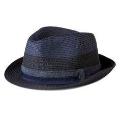 3631ee01909 Men s Chambray Braided Fedora Blue Mens Braids